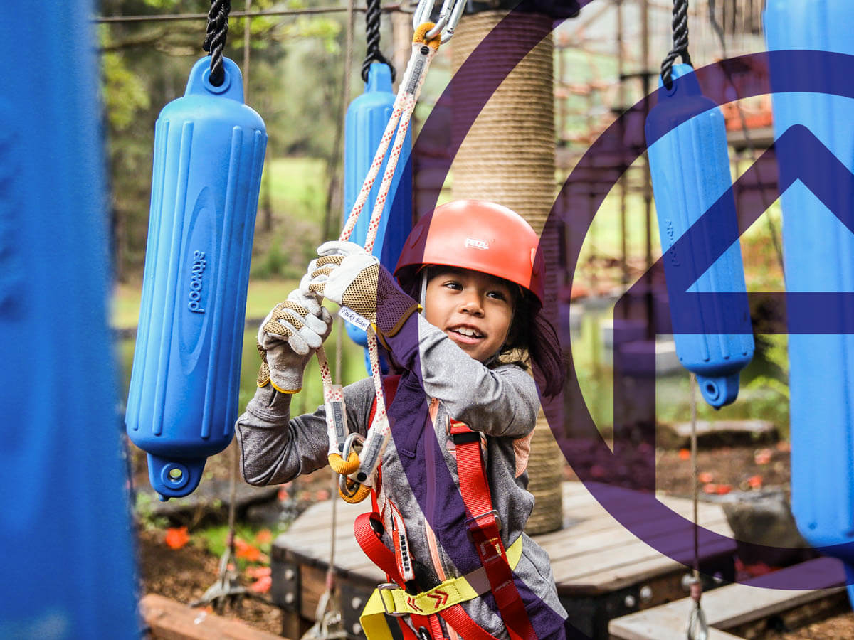The Kid's Adventure Course at Lanai Adventure Park